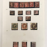 QUEEN VICTORIA STAMPS X 1 PAGE 1856-1857 - GOOD CONDITION . EXCELLENT SET OF EMBOSSED ISSUES & STAMPS SG70 WITH INVERTED WATERMARK