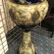 ROYAL DOULTON JARDINIERE & STAND