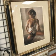 SIGNED PASTEL OF EROTIC WOMAN