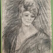 """Albert De Belleroche 1864-1944. French. """"Signed Pencil Drawing of a Lady & Another Drawing"""