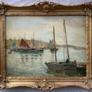 """John Anthony Park 1880-1962 (Circle of). British. Oil on board. """"St Ives Harbour"""". Signed."""