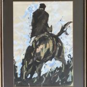 Christopher J Keogh. Irish. Gouache. A Rider and Horse. Signed.