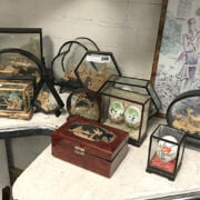 COLLECTION OF ORIENTAL CORK DIORAMAS