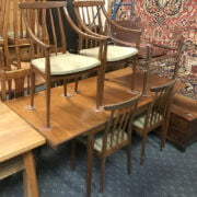 DINING TABLE & SIX CHAIRS - POSSIBLY MCINTOSH