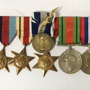 SET OF 5 WW2 MEDALS & GREEK CAMPAIGN MEDAL & RIBBON WITH CERTIFICATES