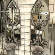PAIR GARDEN POT MIRRORS