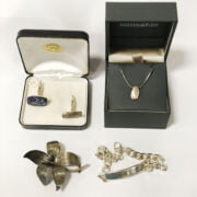 800 SILVER MICRO MOSAIC BROOCH & OTHER SILVER JEWELLERY