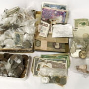 QTY OF WORLD COINS /BANKNOTES (SOME SILVER)