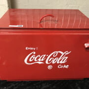 LARGE COCA COLA COOL BOX - REPRODUCTION 57CMS X 38CMS