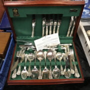 SILVER PLATED CANTEEN OF  CUTLERY