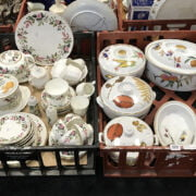 WORCESTER & WEDGWOOD CHINA - 2 TRAYS