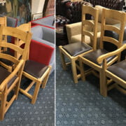 EIGHT PINE DINING CHAIRS