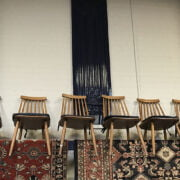 SIX ERCOL STYLE CHAIRS
