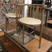 PAIR OF INLAID TUB CHAIRS