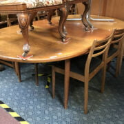 G PLAN TABLE & SIX CHAIRS