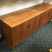 PAIR OF LOW G PLAN CABINETS