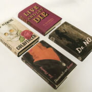 FOUR JAMES BOND 1ST EDITIONS WITH FACSIMILE COVERS