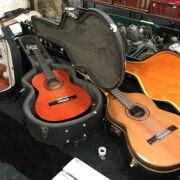 KIMBARA CLASSICAL GUITAR & FLIGHT CASE AND ANOTHER WITH VIOLIN