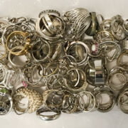 LARGE QTY OF MOSTLY SILVER RINGS