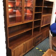 ROSEWOOD DANISH DISPLAY CABINET / BOOKCASE BY SEJLING SKABE