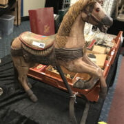 ANTIQUE CAROUSEL HORSE - 65CMS