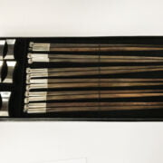 BOXED THAI 925 SILVER CHOPSTICK SET
