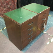 PAIR OF 5 DRAWER CHESTS