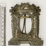 SILVER SHIP / FRAME & 3 OTHER SILVER ITEMS