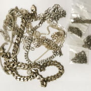 COLLECTION OF SILVER CHAINS