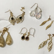 LOTS OF VARIOUS EARRINGS INCL. SOME 9CT GOLD PIECES