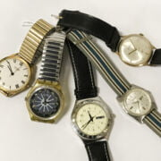 5 VARIOUS WATCHES INCL. 1 GOLD & TWO SWATCHES