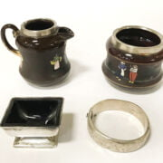 FOUR VARIOUS SILVER ITEMS