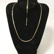 TWO 10CT GOLD ITEMS - NECKLACE & BRACELET - 3.8 GRAMS