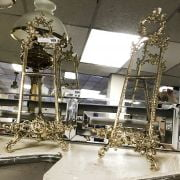 PAIR LARGE BRASS EASELS - 52CM