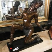 BRONZE STATUE OF A LADY - 50CMS