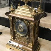 FRENCH GILT MANTLE CLOCK WITH FRENCH MOVEMENT - 1865 - 38CM