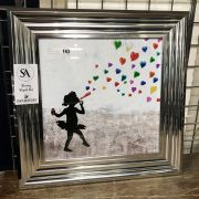 BANKSY STYLE PICTURE - 55CM SQUARED