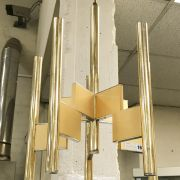 1960'S BRASS ABSTRACT HANGING LIGHT