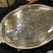 SILVER PLATED TRAY - 70 CMS