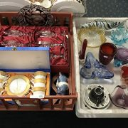 COLLECTION OF GLASSWARE & CHINA