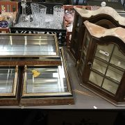 5 GLASS HANGING WALL CABINETS