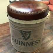 LEATHER TOP GUINNESS STOOL