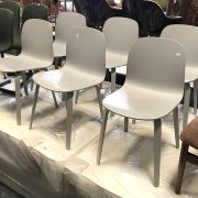 6 GREY WOODEN CHAIRS