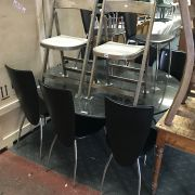 GRANITE DINING TABLE & 8 CHAIRS