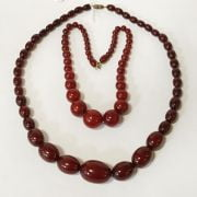 QTY VARIOUS NECKLACES INCL. AMBER