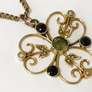 TWO 9CT GOLD VICTORIAN PENDANTS & CHAINS WITH 2 PENDANTS NO CHAINS OF THE S...