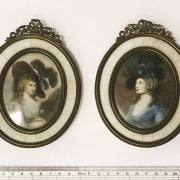 TWO HAND PAINTED MINIATURE PORTRAITS