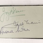 COLLECTION OF AUTOGRAPH ALBUMS TO INCLUDE VERA LYNN, SIDNEY TAFLER, RONALD ...