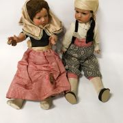PAIR OF EARLY SPANISH COSTUME DOLLS ''TITA'' POSSIBLY 1950'S - 44CM HEIGHT