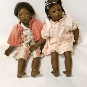 TWO ANNETTE HIMSTEDT DOLLS - 54CM TALL APPROX